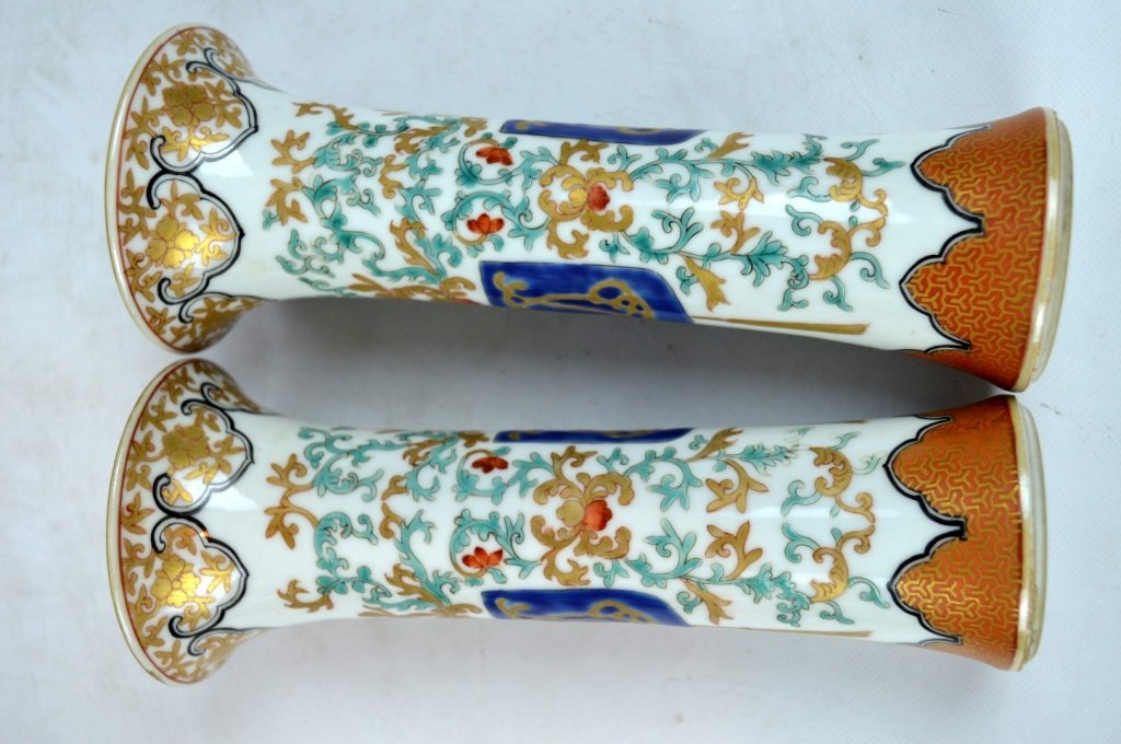 19th C Chinese Export 5-Piece Porcelain Garniture - 8