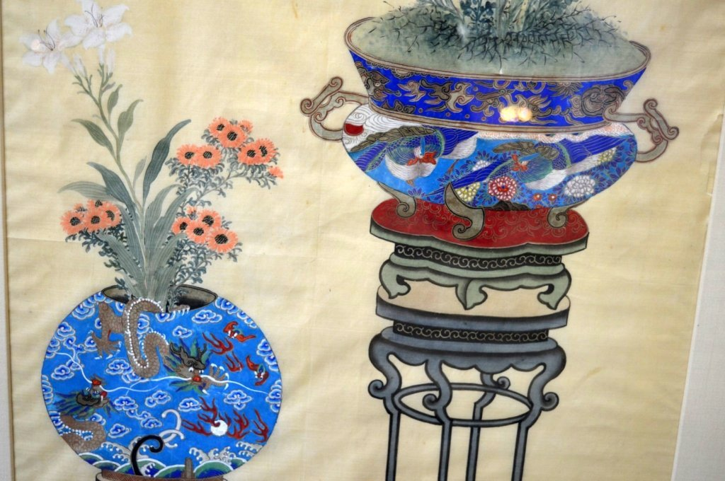 3 - Finely Detailed Chinese Paintings on Silk - 3