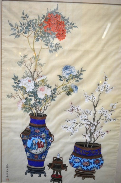 3 - Finely Detailed Chinese Paintings on Silk - 6