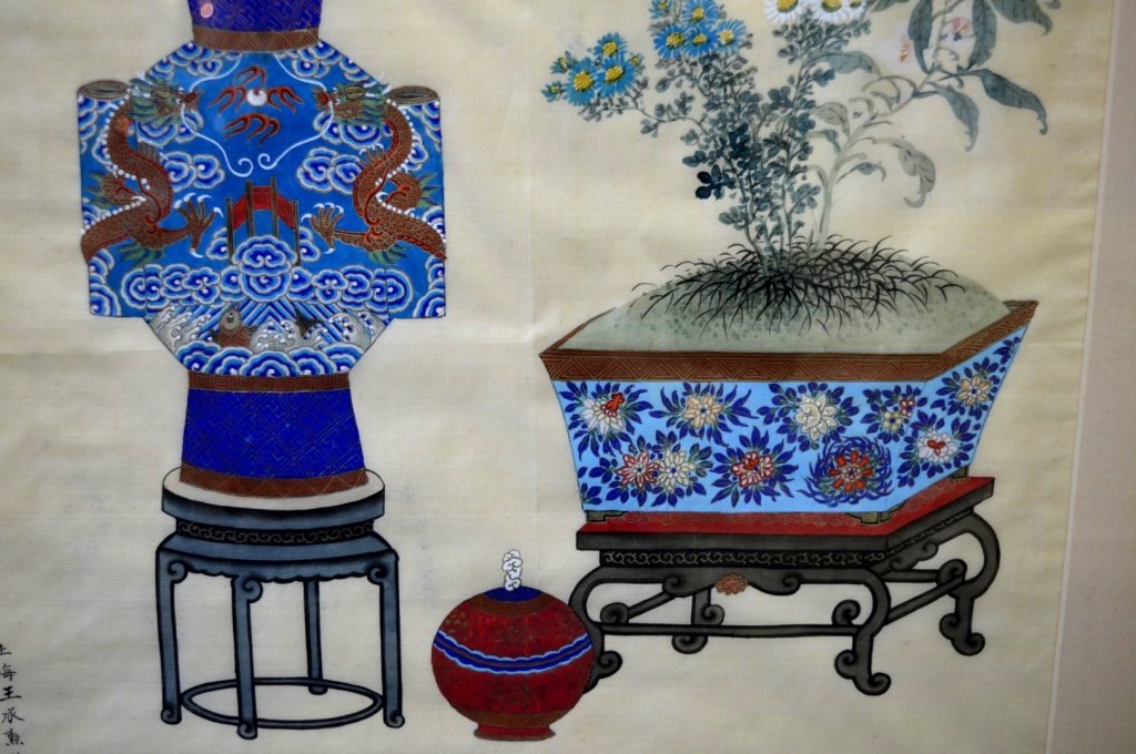 3 - Finely Detailed Chinese Paintings on Silk - 8