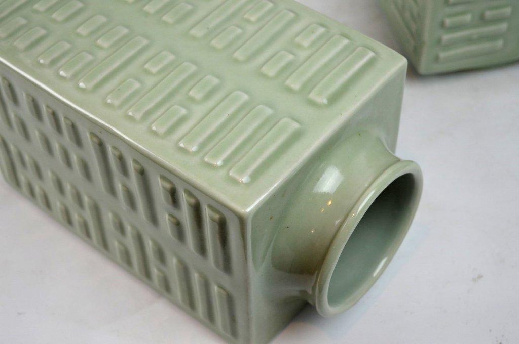 "Pr 19C Chinese Porcelain ""Baguan"" Vases, Guangxu - 6"