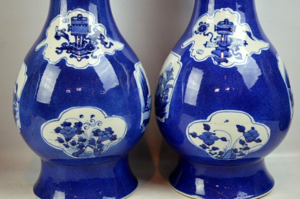 Christie's- Pr Kangxi Chinese Porcelain Vases - 3