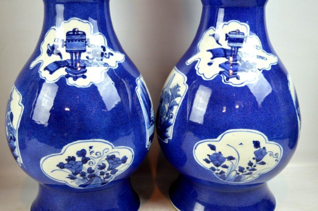 Christie's- Pr Kangxi Chinese Porcelain Vases - 4