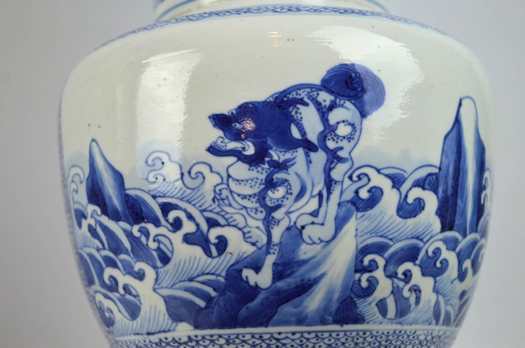 17th/18th C Chinese Blue & White Porcelain Vase - 3