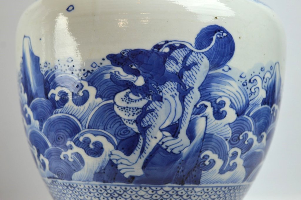 17th/18th C Chinese Blue & White Porcelain Vase - 4
