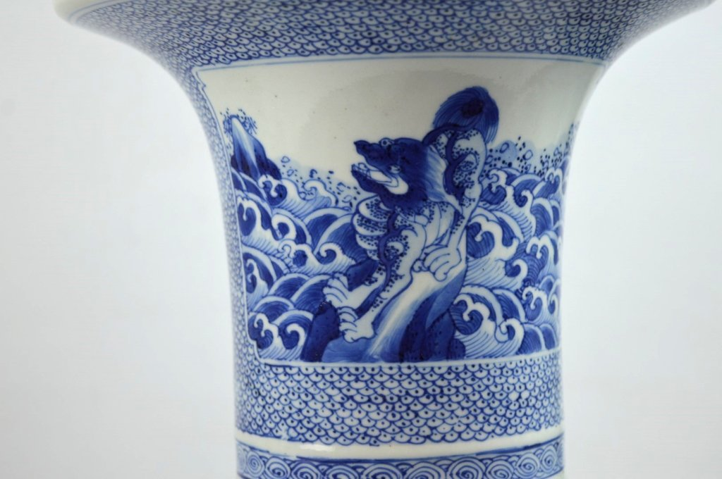 17th/18th C Chinese Blue & White Porcelain Vase - 5