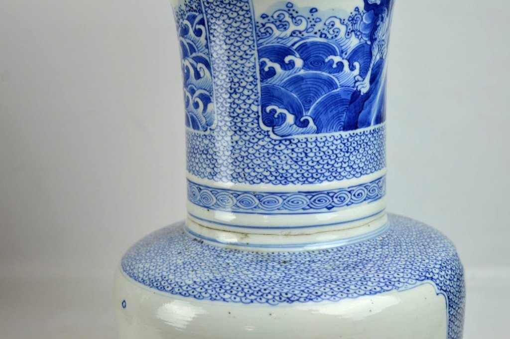 17th/18th C Chinese Blue & White Porcelain Vase - 8