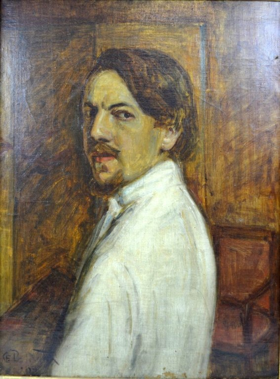 Charles Polowetsky; Oil-Canvas Self-Portrait 1909