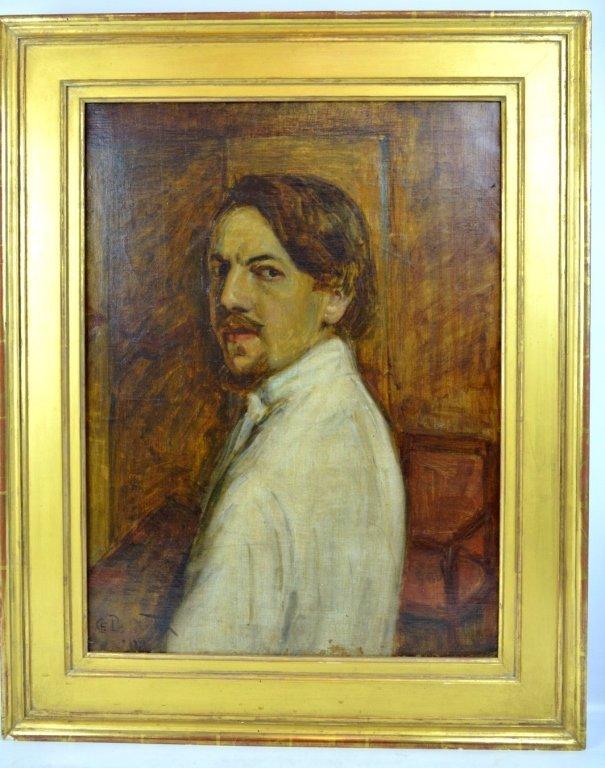 Charles Polowetsky; Oil-Canvas Self-Portrait 1909 - 2