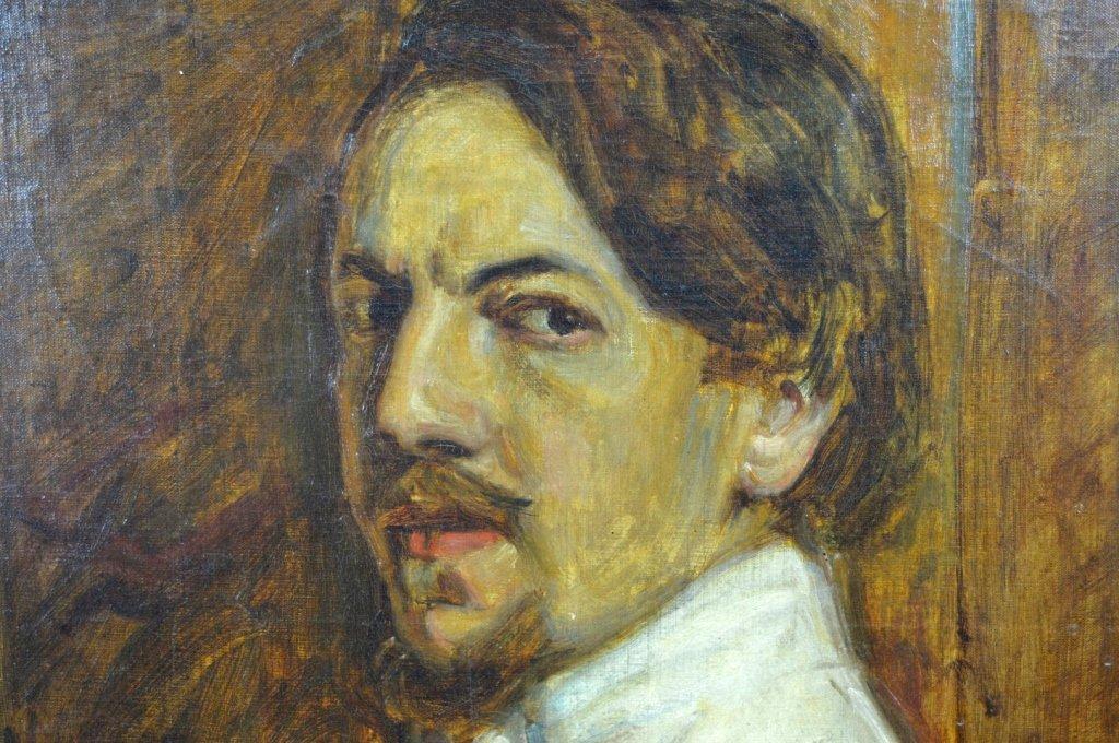 Charles Polowetsky; Oil-Canvas Self-Portrait 1909 - 3