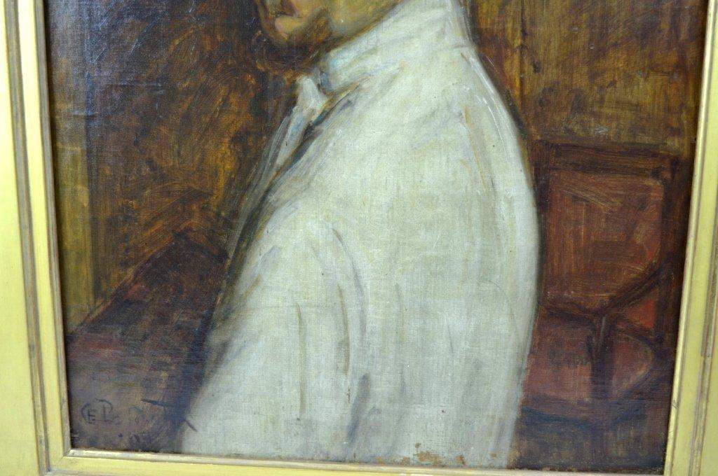 Charles Polowetsky; Oil-Canvas Self-Portrait 1909 - 4