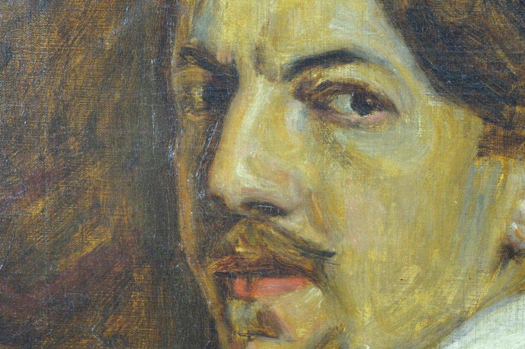 Charles Polowetsky; Oil-Canvas Self-Portrait 1909 - 5