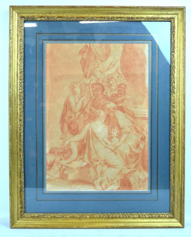 18th C Old Master Drawing in Sanguine on Paper - 2