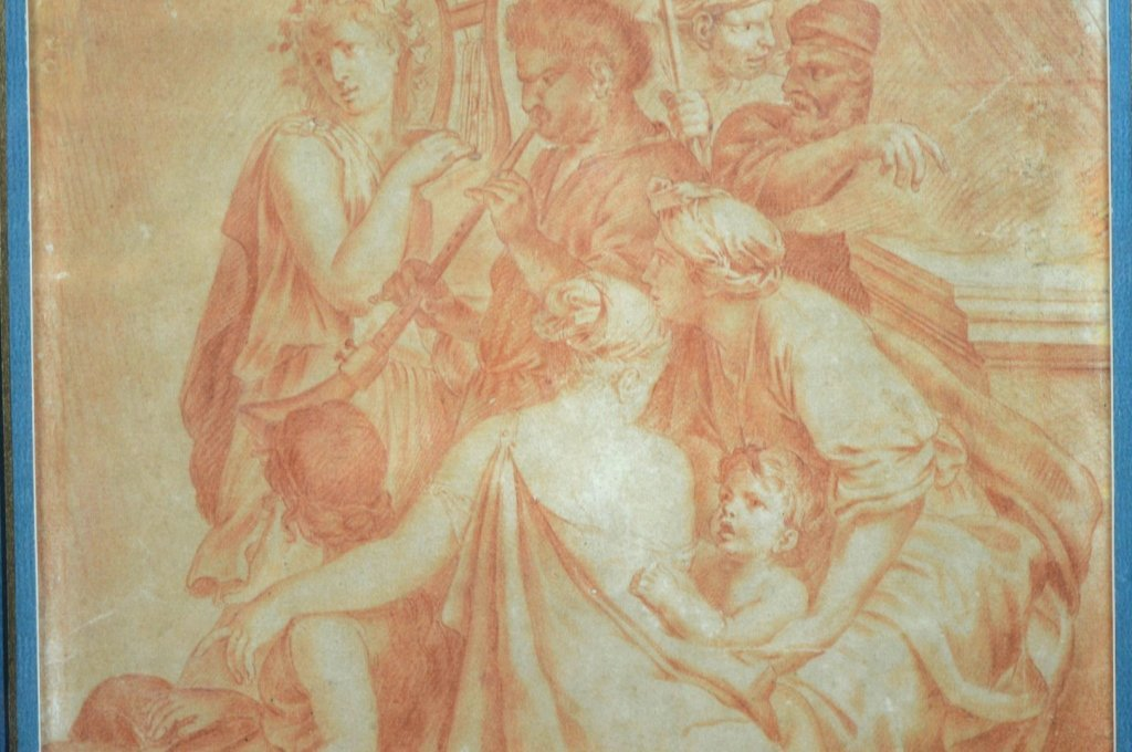 18th C Old Master Drawing in Sanguine on Paper - 4