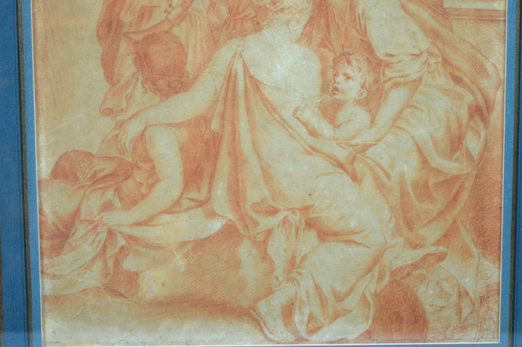 18th C Old Master Drawing in Sanguine on Paper - 5