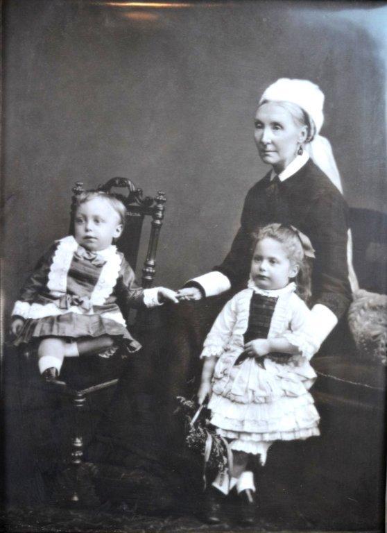 Rare Carbon Photograph on English Porcelain Plaque
