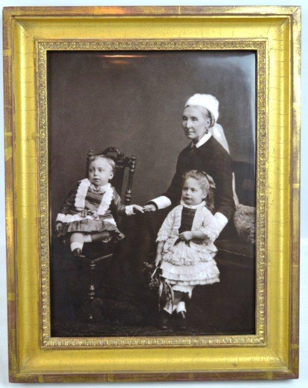 Rare Carbon Photograph on English Porcelain Plaque - 2