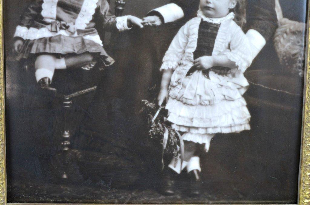 Rare Carbon Photograph on English Porcelain Plaque - 5