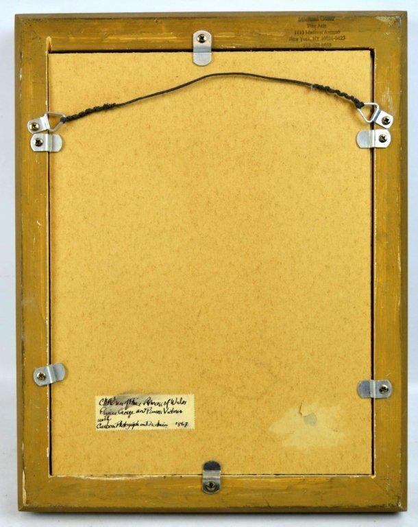 Rare Carbon Photograph on English Porcelain Plaque - 6
