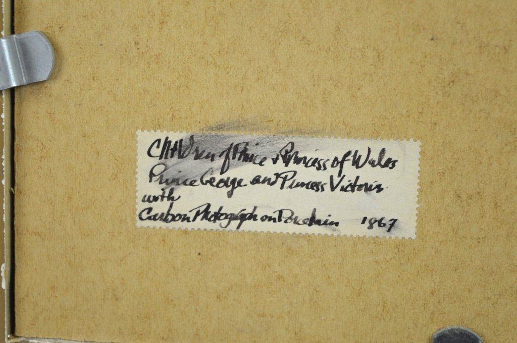 Rare Carbon Photograph on English Porcelain Plaque - 7