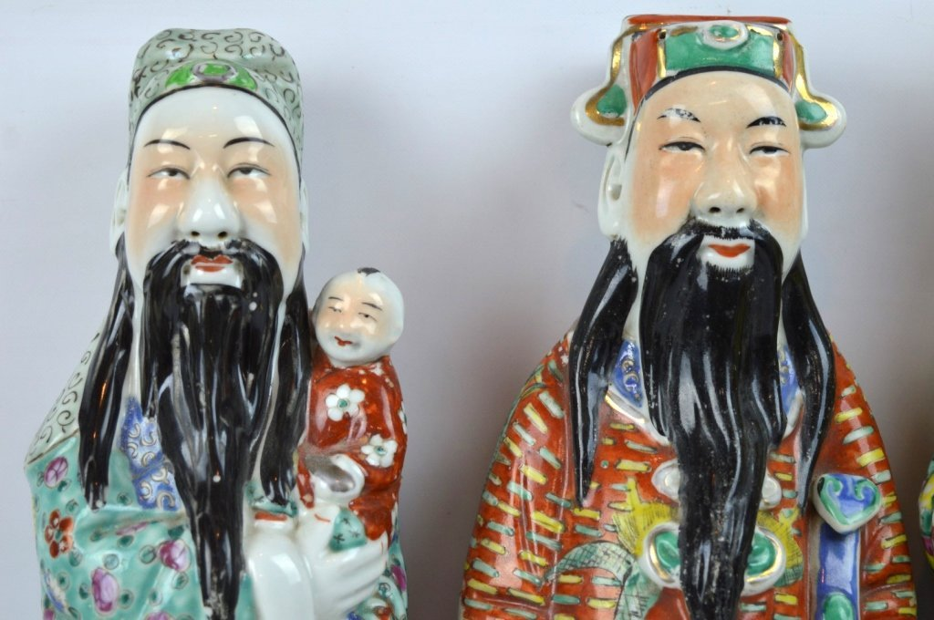 3 - Chinese Republic Porcelain Good Luck Figures - 2