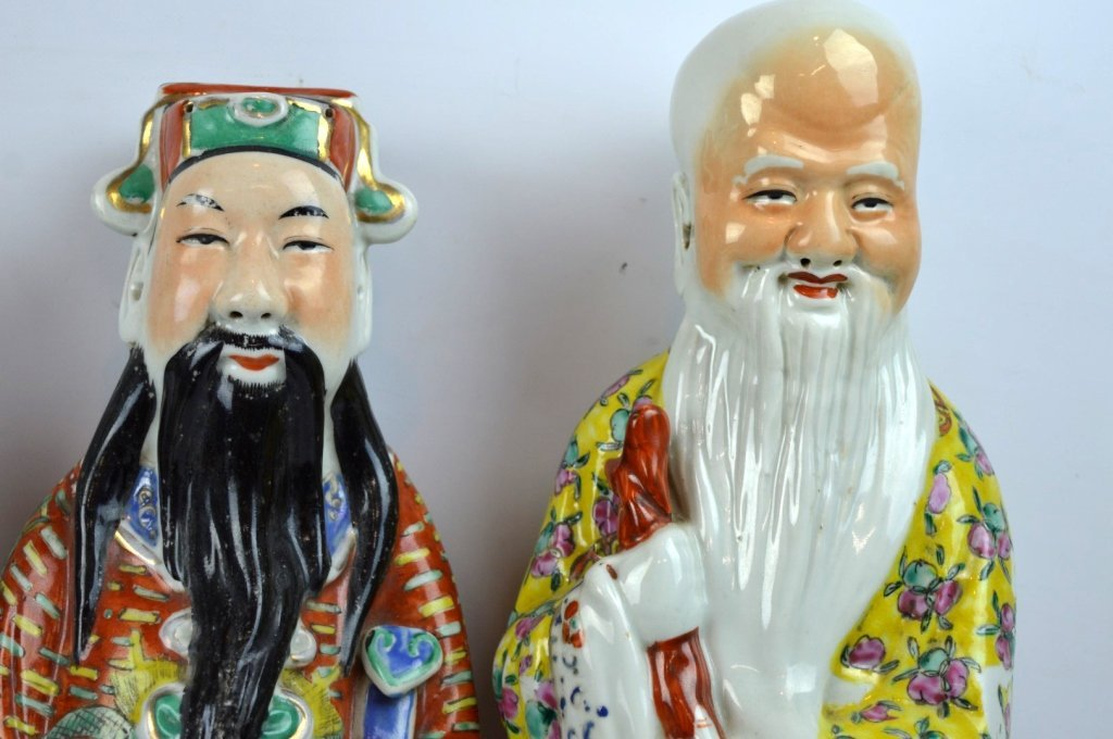 3 - Chinese Republic Porcelain Good Luck Figures - 3