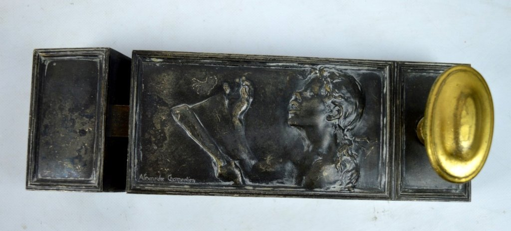 "Charpentier: 1900 Silver-Bronze Plaque ""Le Chant"""