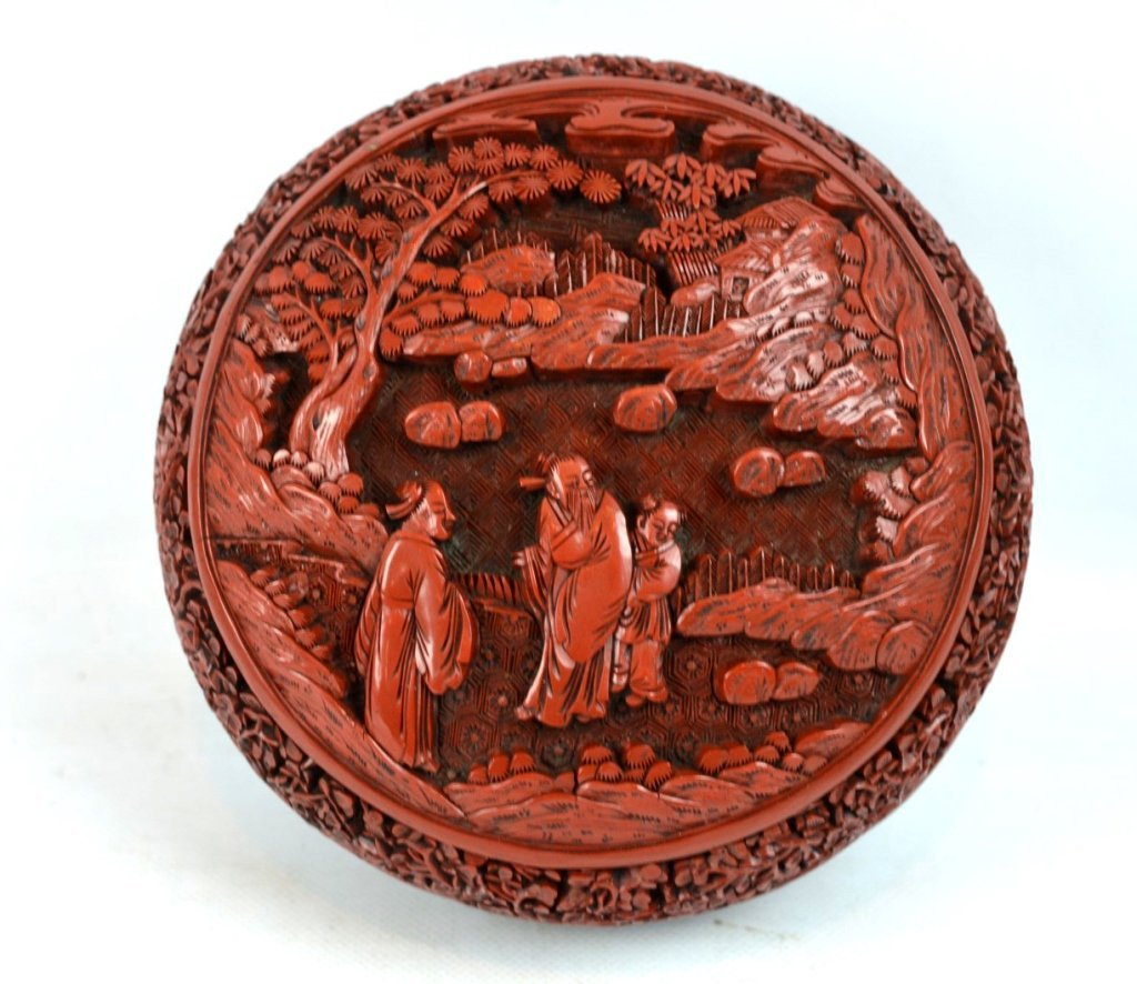 Very Fine 18th/19th C Chinese Cinnabar Lacquer Box