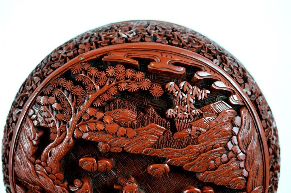 Very Fine 18th/19th C Chinese Cinnabar Lacquer Box - 3