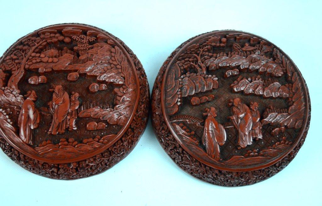 Very Fine 18th/19th C Chinese Cinnabar Lacquer Box - 5