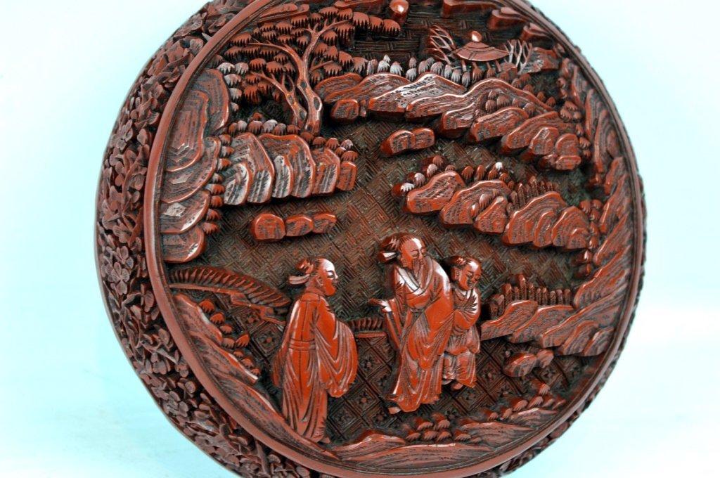 Very Fine 18th/19th C Chinese Cinnabar Lacquer Box - 6