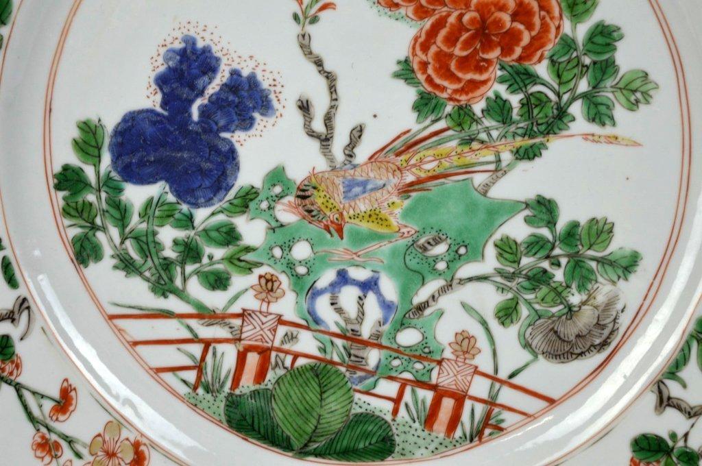 Good Pr Chinese Kangxi Period Famille Verte Plates - 2
