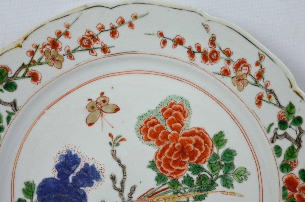 Good Pr Chinese Kangxi Period Famille Verte Plates - 3
