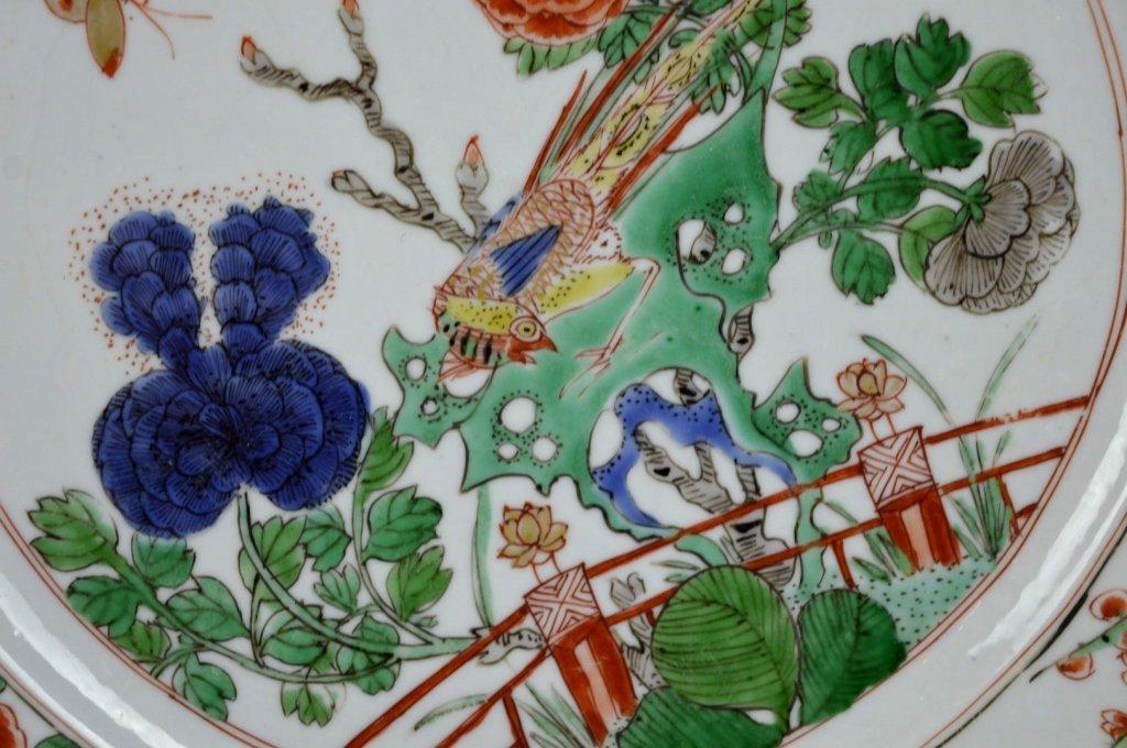 Good Pr Chinese Kangxi Period Famille Verte Plates - 4