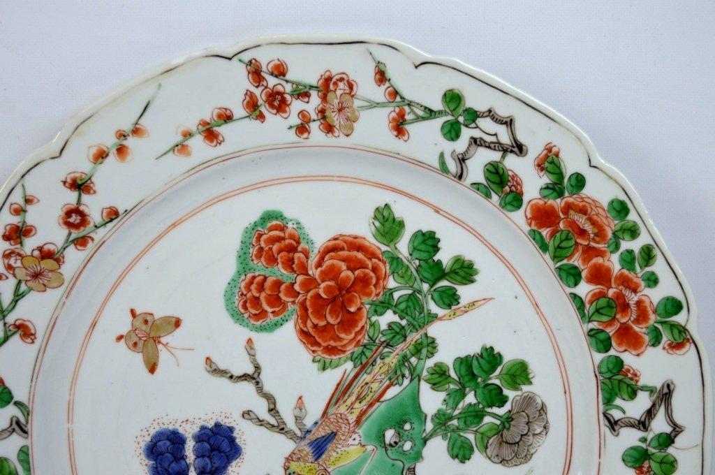 Good Pr Chinese Kangxi Period Famille Verte Plates - 5