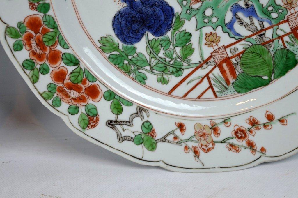 Good Pr Chinese Kangxi Period Famille Verte Plates - 6