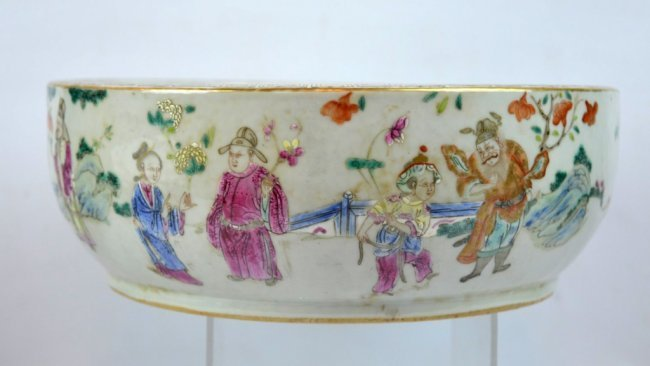 19th C Chinese Enameled Porcelain Deep Bowl
