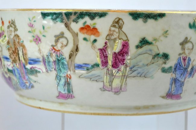 19th C Chinese Enameled Porcelain Deep Bowl - 2
