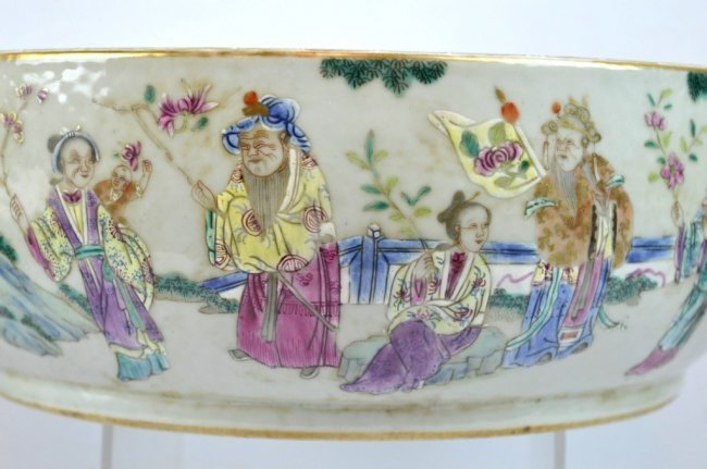 19th C Chinese Enameled Porcelain Deep Bowl - 3