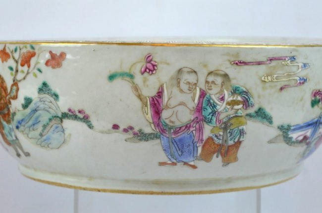 19th C Chinese Enameled Porcelain Deep Bowl - 5