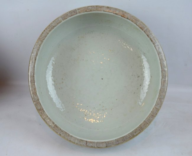 19th C Chinese Enameled Porcelain Deep Bowl - 6
