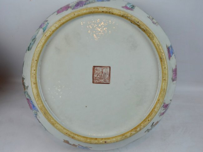 19th C Chinese Enameled Porcelain Deep Bowl - 7