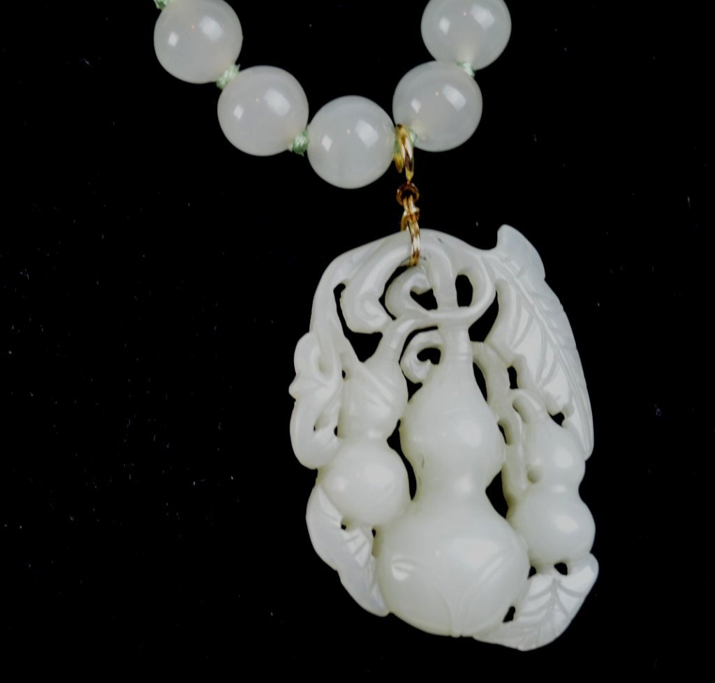 2 - Antique Chinese White Jades; Toggle & Pendant - 2