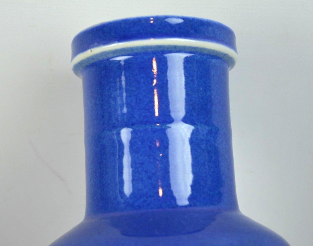 2 - 19th C Chinese Powdered-Blue Porcelain Vases - 7
