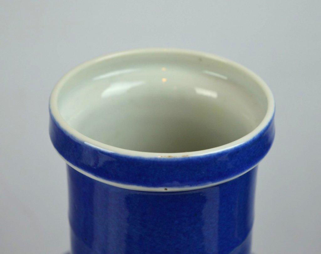2 - 19th C Chinese Powdered-Blue Porcelain Vases - 8
