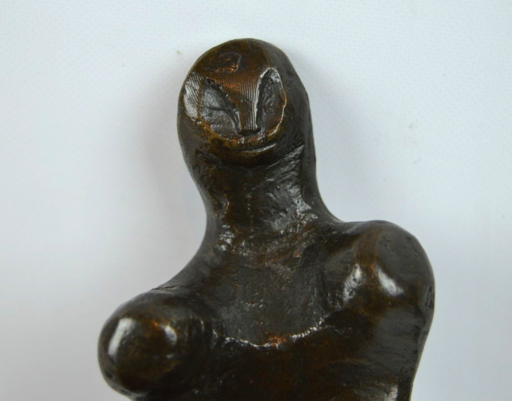 "Endre Boszin: ""Tribute to Henry Moore"" Bronze - 2"