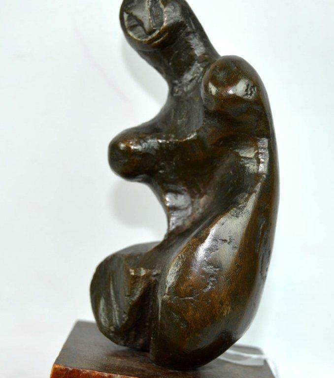 "Endre Boszin: ""Tribute to Henry Moore"" Bronze - 3"