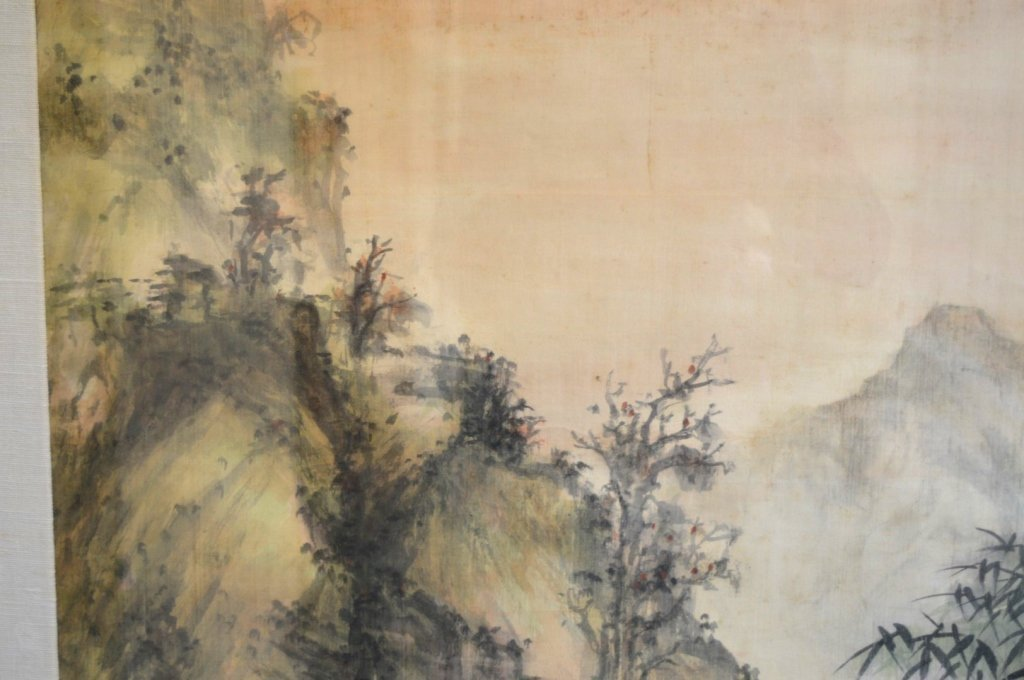 Chinese Landscape in the Rain Painting in Ink - 3