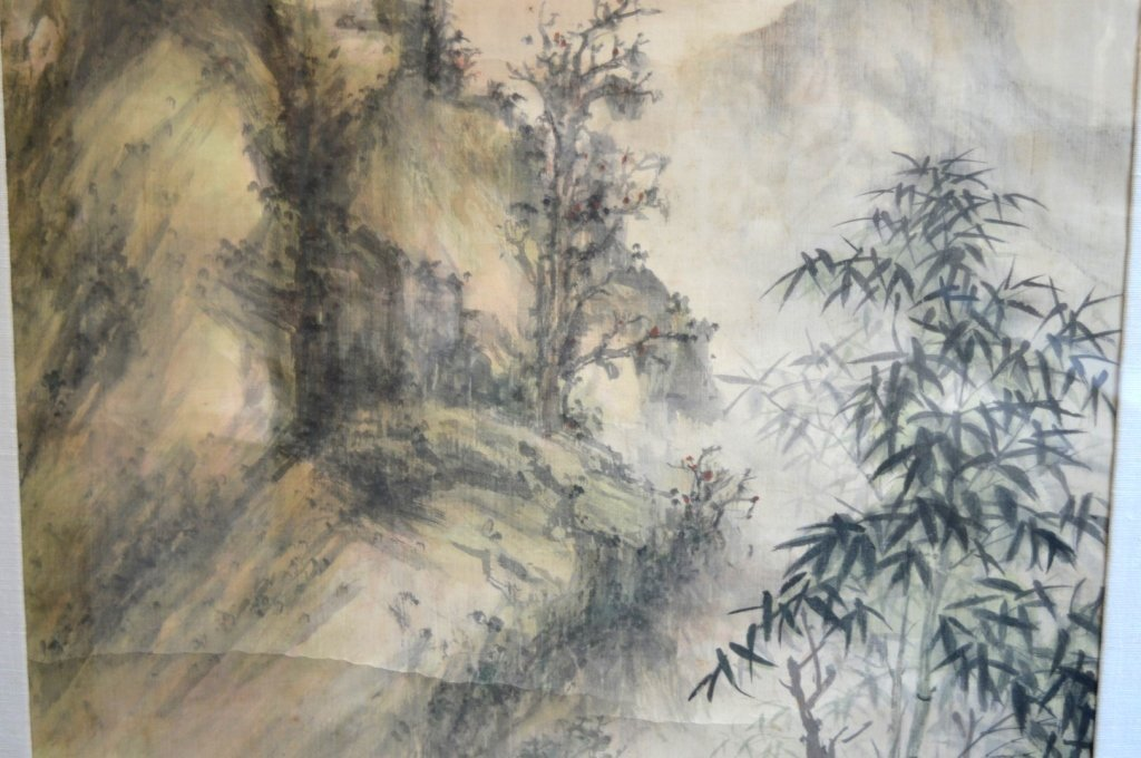 Chinese Landscape in the Rain Painting in Ink - 4