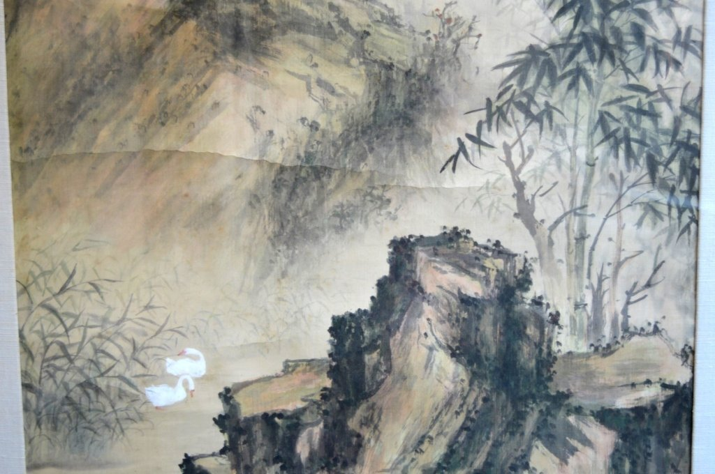 Chinese Landscape in the Rain Painting in Ink - 5
